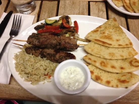Pita Paradise: lamb kebab