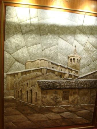 Hotel Olid: decoración pasillos