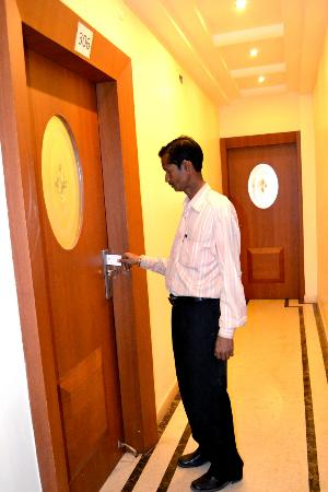 Hotel Kusum: Card locking system