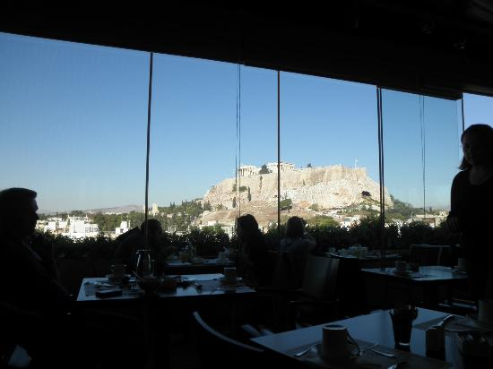 The Athens Gate Hotel: Vista do café da manhã