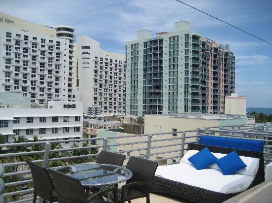 Z Ocean Hotel South Beach : Vue depuis le terrasse en Penthouse