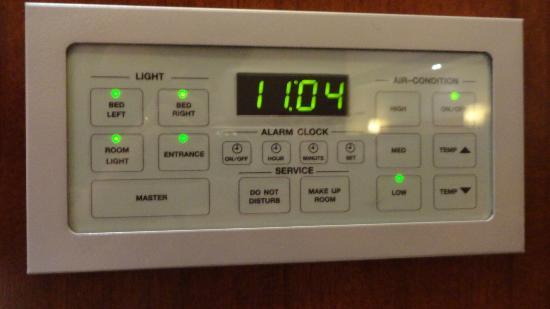 Rembrandt Hotel Bangkok: control panel