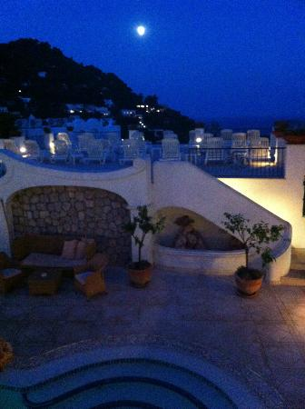 La Residenza Capri: A View from my diner table with my wife.
