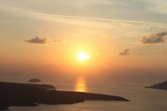Santorini, Grekland: SUn Set