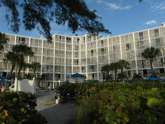 Guy Harvey Outpost, a TradeWinds Beach Resort: View of the hotel from the cabana area.