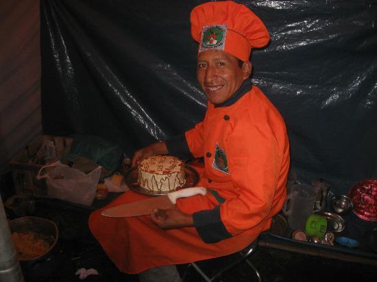 Auqui Peru Mountain Spirit: Eugenio, Auqui Perù chef at work