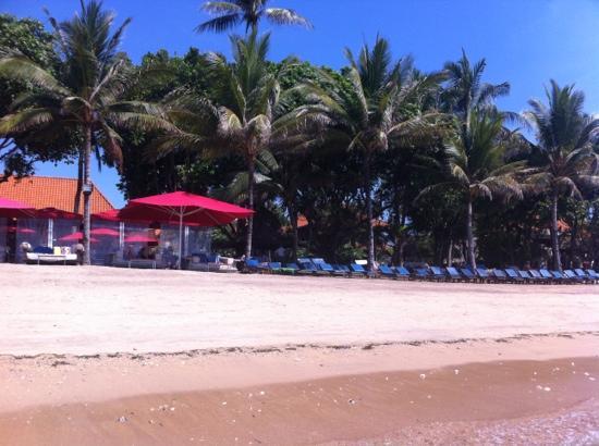 Puri Santrian: beach view from the sea