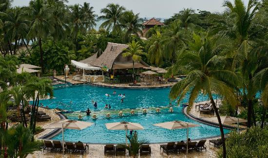 The Pool Is Huge Picture Of Shangri La 39 S Rasa Sentosa Resort Spa Sentosa Island Tripadvisor
