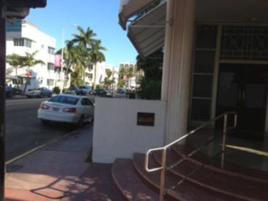 The Hotel: Entrance View of Collins Ave