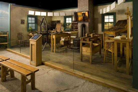 Independence Visitors' Center: Original Independence Printing Office Reconstruction