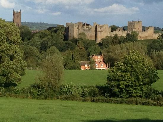 The Cliffe at Dinham: View of the Ludlow Castle from the Cliffe