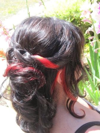 Salon 360 and Day Spa: Bridal w/ fire red