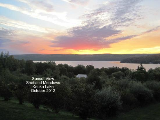 Shetland Meadows: Awesome sunset viewed from their front porch