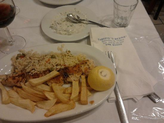 Taverna O Thespis: suvlaki al pollo