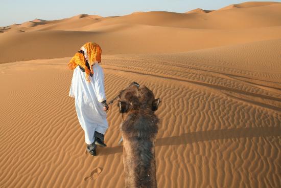 Kasbah Azalay Merzouga: Paseo en dromedario por las dunas
