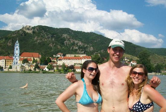 Vienna Explorer Tours & Day Trips : Swimming in the Danube with Bernard our tour guide