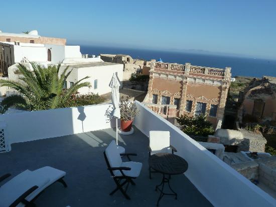 Aethrio Hotel: la vue de notre chambre