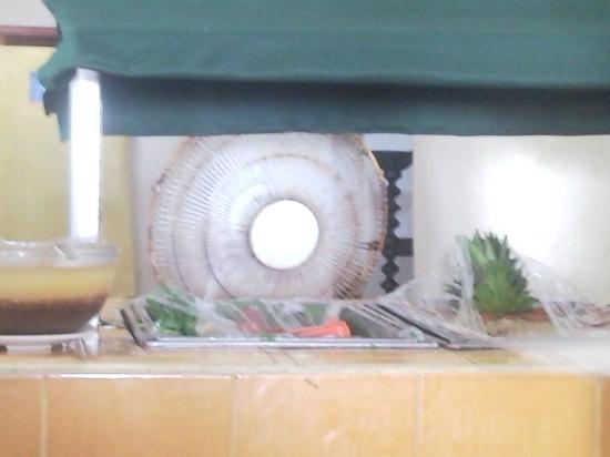 Club Fiesta Mexicana: Con este ventilador refrescan la ensalada, la cual dejan todo el día para las siguientes comidas
