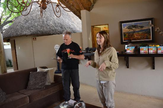 Simbavati River Lodge: Welcome by Elmarie