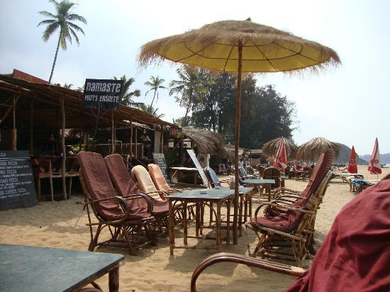 Hare Rama: On the beach seating