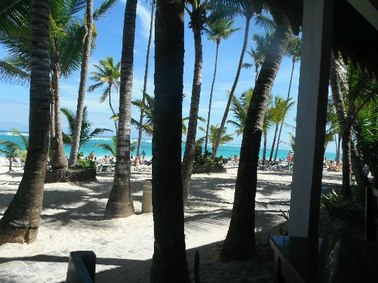 Hotel Riu Naiboa: view of the beach from the snack bar !