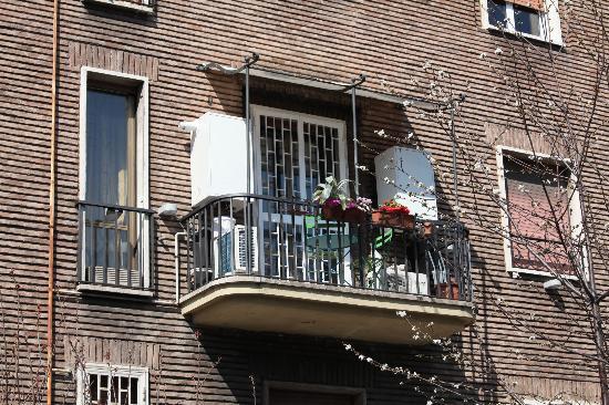 B&B Roma Gianicolense: veduta terrazzino camera perla
