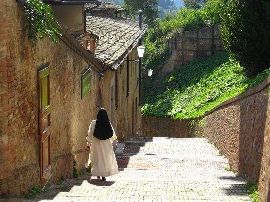 Hotel Alma Domus: Nun goes to our monastery-hotel)
