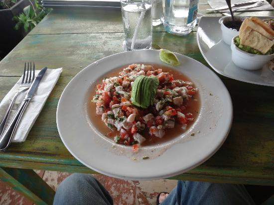 El Pez Colibri Boutique Hotel: A small ceviche--Yum!