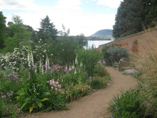 Royal Tasmanian Botanical Gardens: looking towards the Derwent River