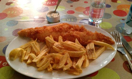 Cod and chips picture of fish bone london tripadvisor for Fish and bone restaurant