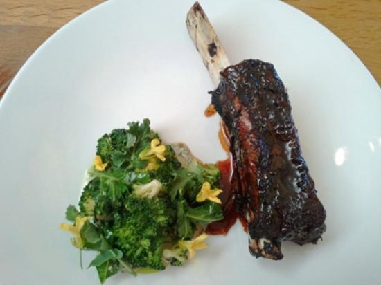 Royal Mail Dining Room: Angus Short Rib Cooked Overnight, Charred Potato, Chestnut And Broccoli
