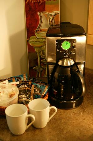 Cabins West : Enjoy a complimentary coffee