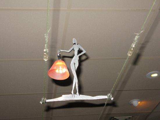 Bistro 821 : Local artist's light fittings
