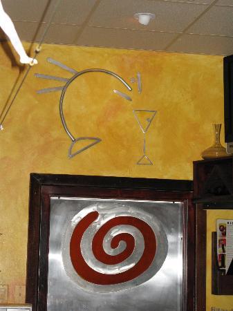 Bistro 821 : Art work behind the bar
