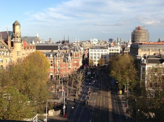 Marriott Amsterdam: Leidseplein view from Marriot 10th