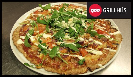 900 Grillhus : The spelt pizza