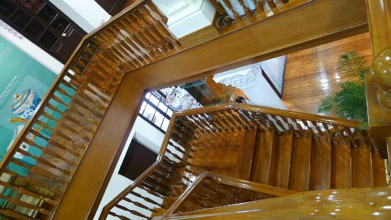 Macau Tea Culture House - lovely staircases in this old European style building