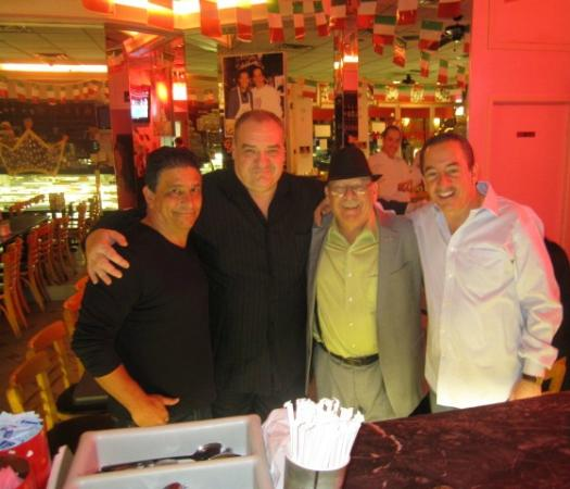 "Caffe Palermo: With my good friends Jackie Bonds, Tony Kost, Me & Owner ""Baby John""."