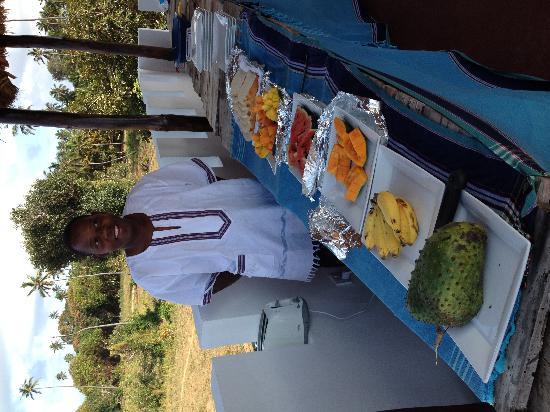 Pemba Island, แทนซาเนีย: Breakfast on the terrace.