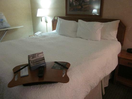 Hampton Inn Portage: The Hampton Luxury sleep package with great pillows and a freshly laundered duvet cover