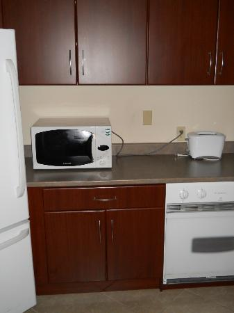 Albert at Bay Suite Hotel: kitchen microwave