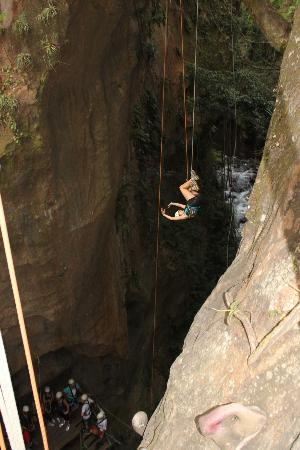 Costa Rica For Everyone: adventure tour- repelling down the canyon upside down!