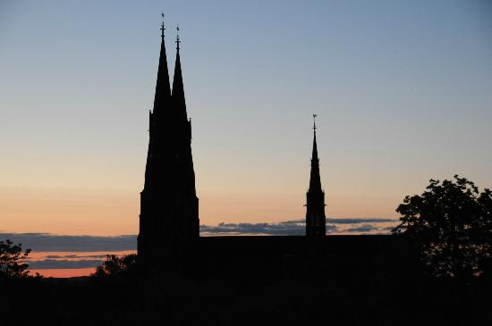 Uppsala Cathedral: Cathedral from the Castle outlook