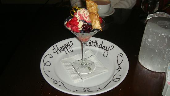 Baca at The Inverness: Birthday Dessert