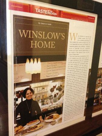 Winslow's Home: Articles