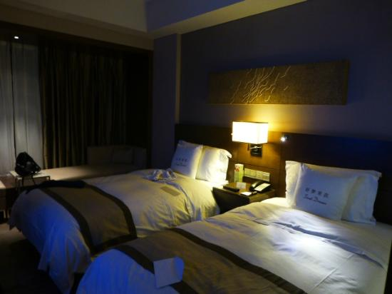 Doubletree by Hilton Beijing: Although described as two queen beds, they were more like doubles, but comfortable