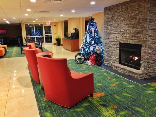 Fairfield Inn Asheville Airport: Lobby Angel Tree