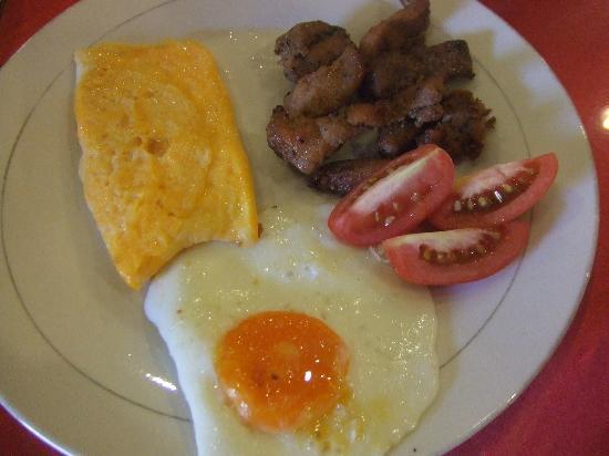 Paladin Hotel: beef breakfast w/o rice