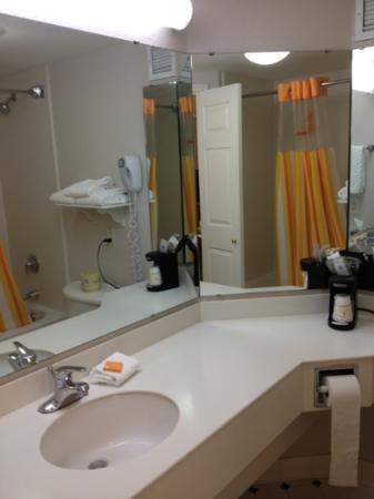 La Quinta Inn & Suites Austin Southwest at Mopac : Bathroom with hair dryer was nice