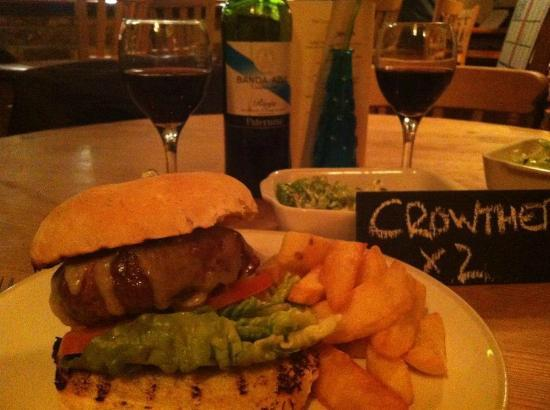 The Crown at Radnage: Try the wonderful burger & Caesar salad!